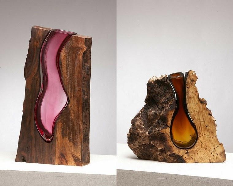 esculturas de madera-estilo-contemporaneo