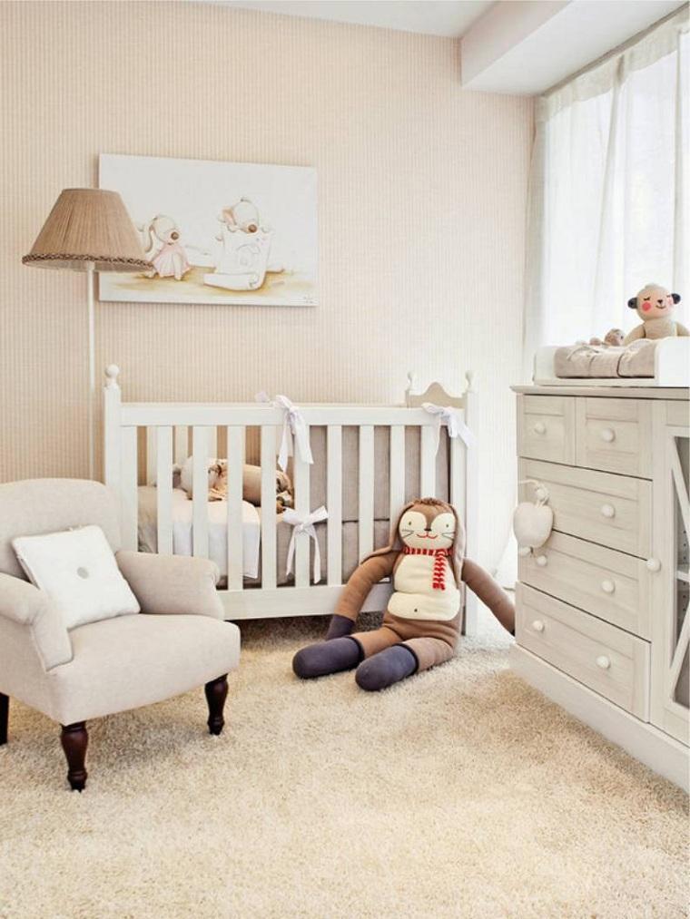 estilo-moderno-muebles-blancos-colores-neutrales-habitacion-bebe