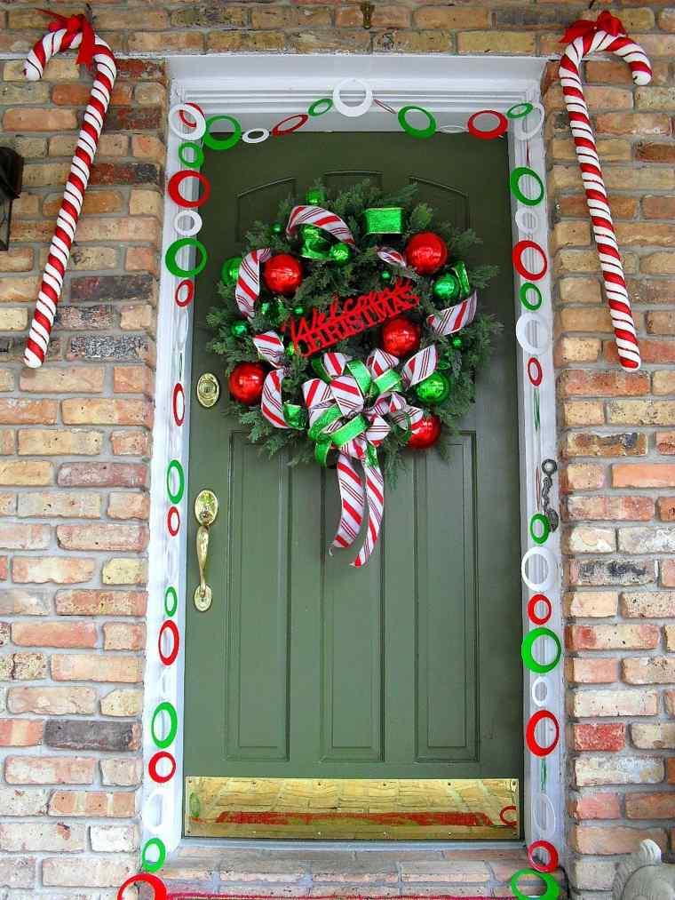 cómo decorar la entrada en navidades