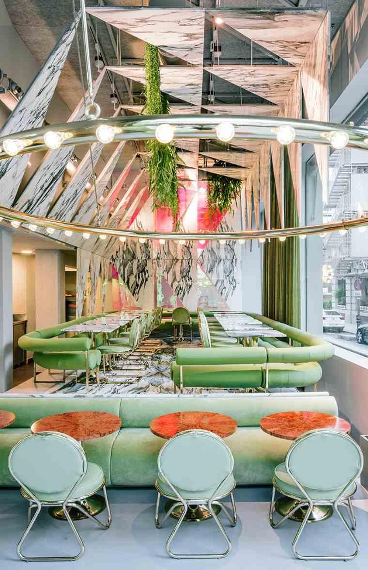 garaje verdes sillas plantas