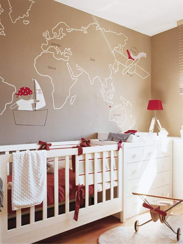 habitacion-bebe-cuna-decoracion-pared-ideas
