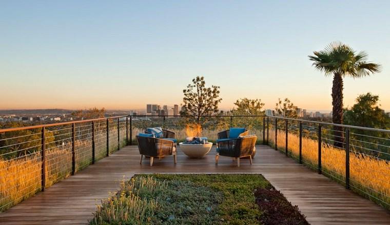 espectacular terraza