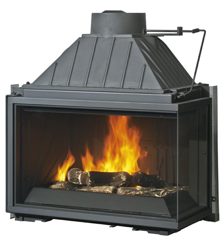 chimenea vieja se puede mejorar con un inserto. Black Bedroom Furniture Sets. Home Design Ideas