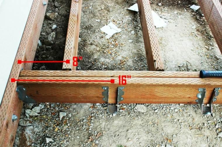 medir la estructura de la cubierta