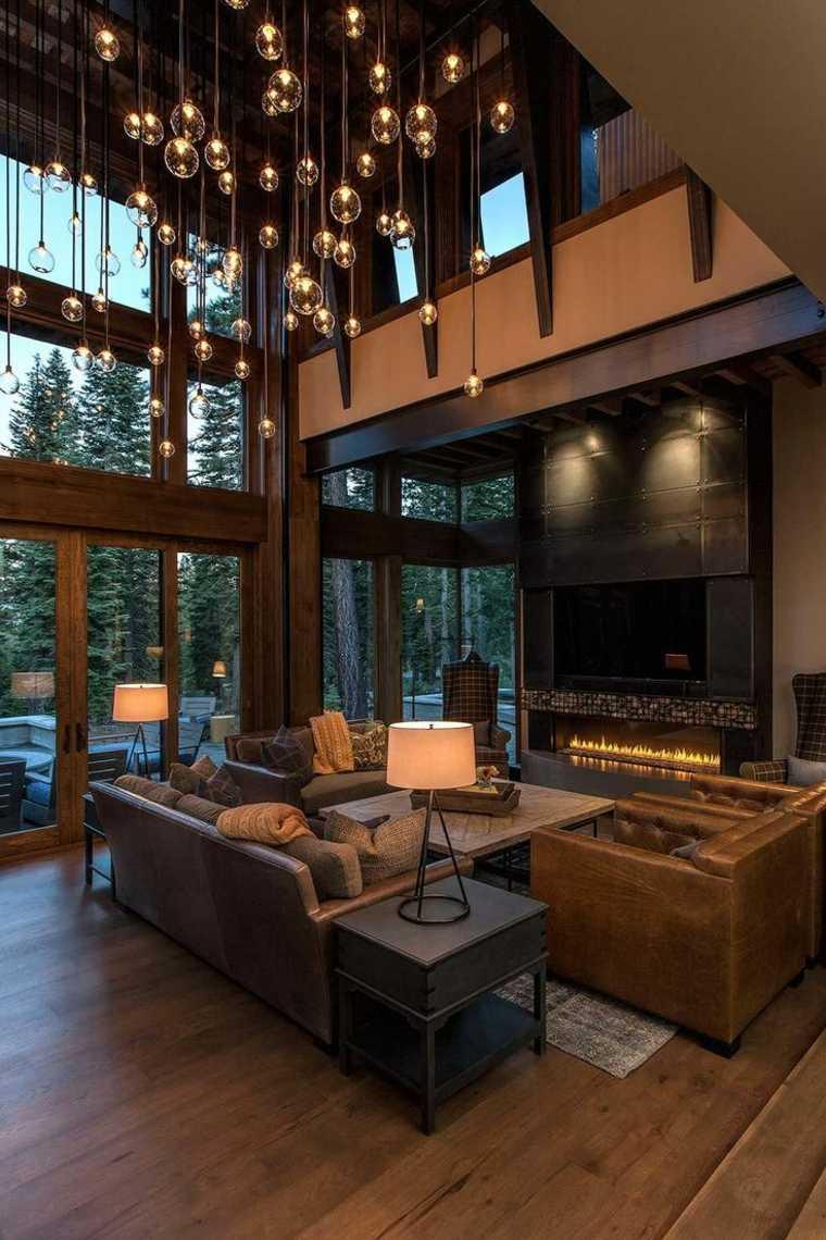 salones y salas de estar de estilo rústico