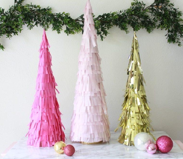 manualidades navidad ideas-decoraciones-arboles-navidad-pequenos