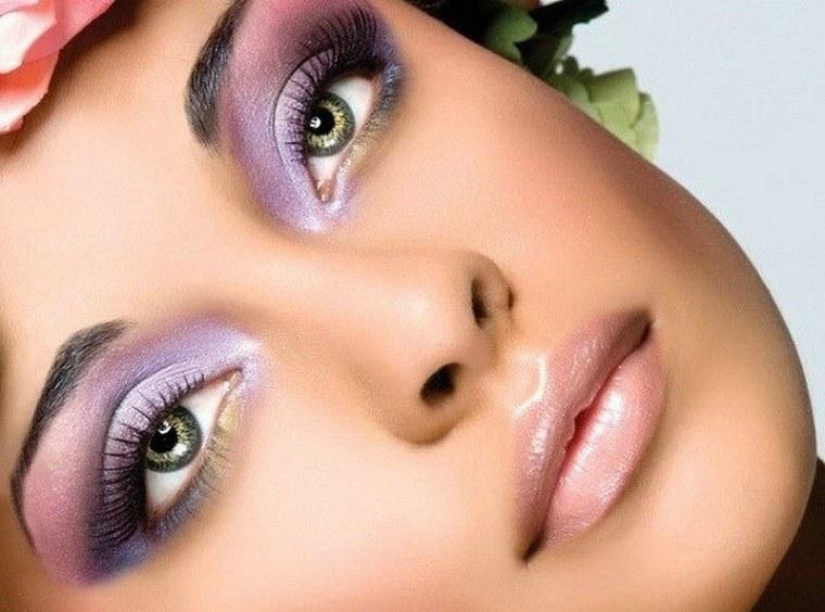maquillaje de noche-opciones-color-purpura