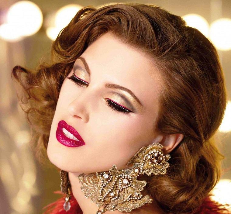 maquillaje de noche-opciones-dorado-estilo
