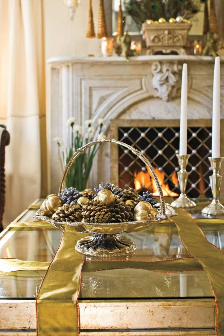 bonita decoración de mesa de salón