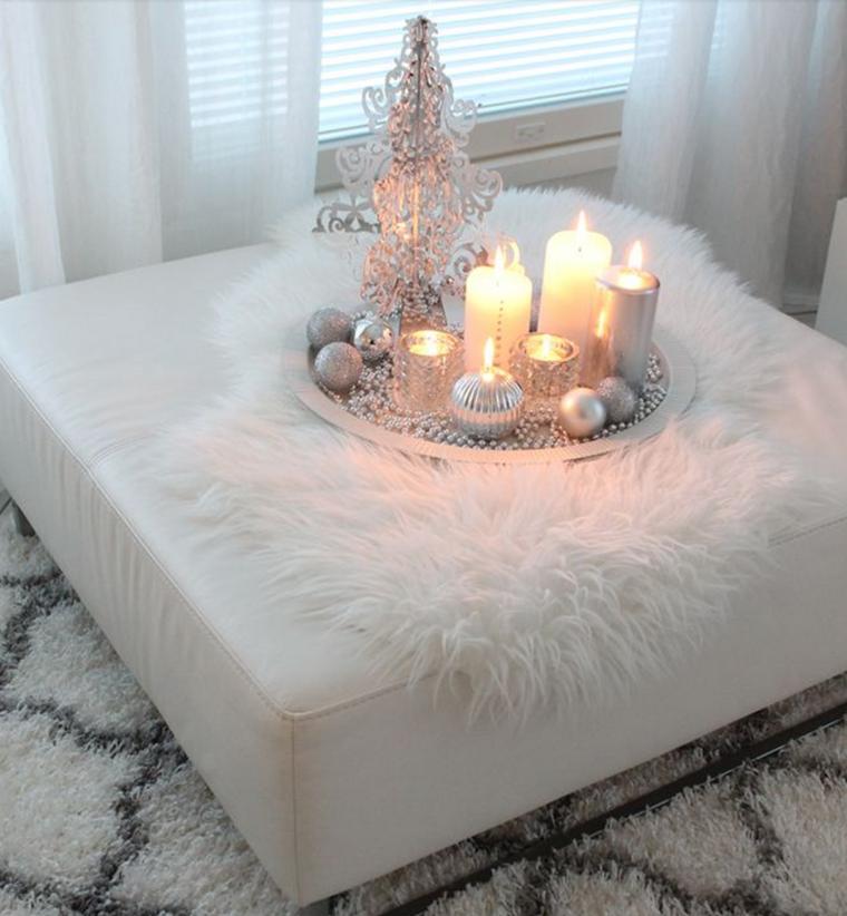 decoración romántica de mesa de salón