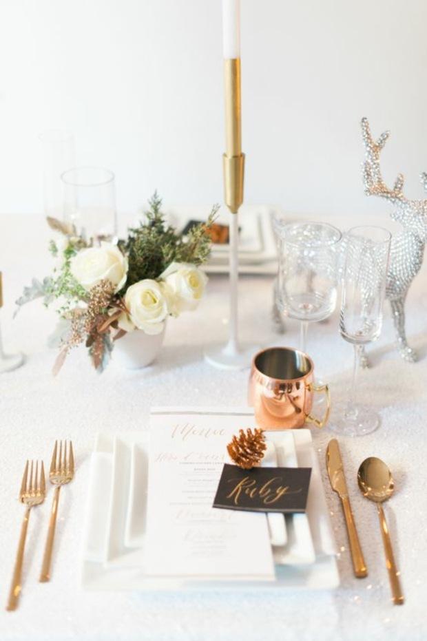 mesas de comedor ideas renos dorados