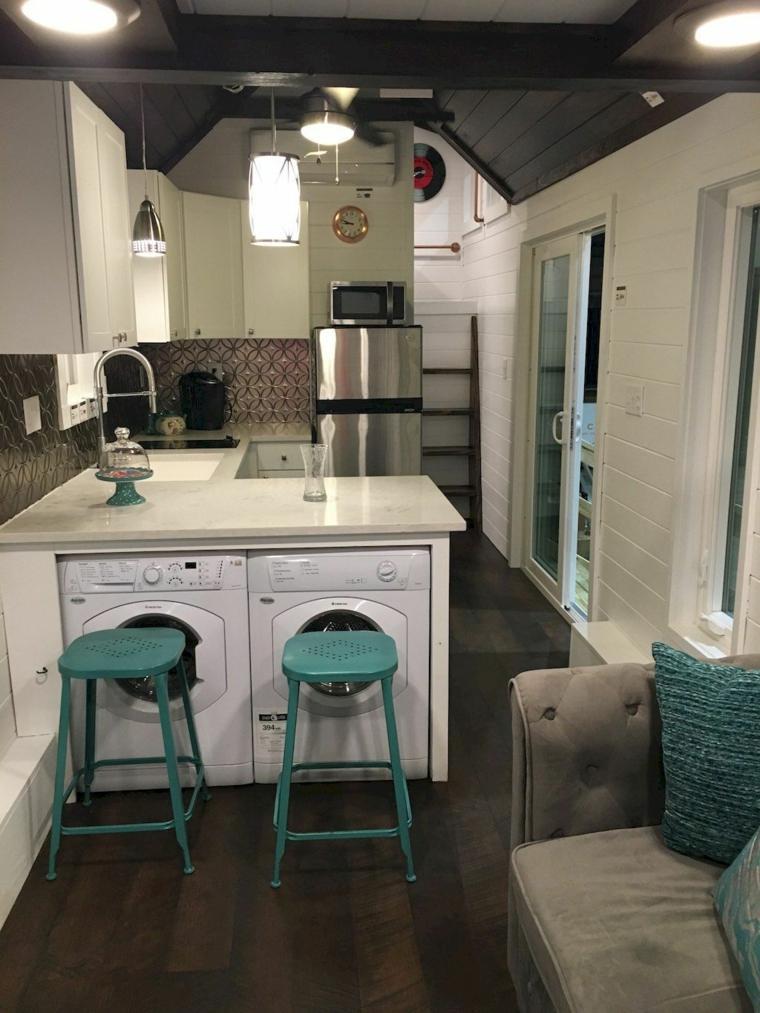 mini cocina blanca