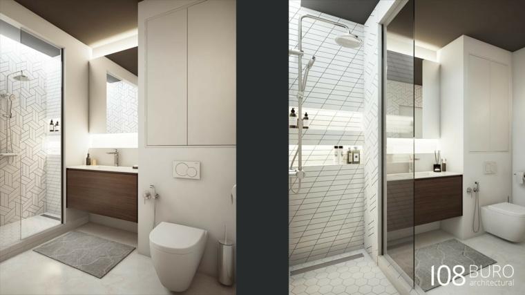Cuarto de baño con un amplio lavabo