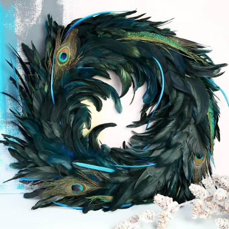 plumas-pavo-real-opciones-adornos-navidad