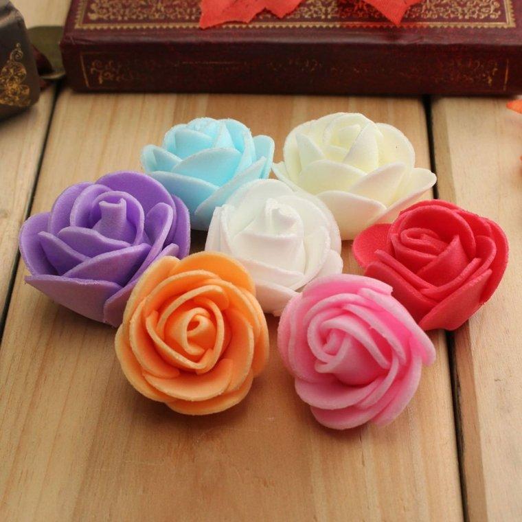 hacer flores sencillas con goma eva