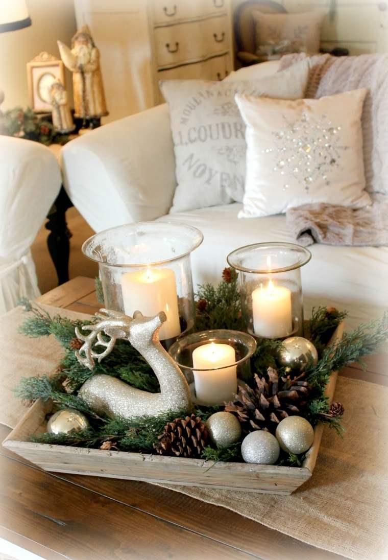 decoración de mesa de Navidad