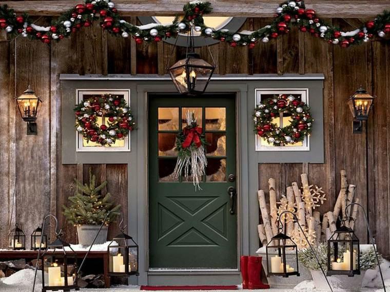 Decoraci n navide a exterior no te olvides de la puerta - Decoracion navidena exterior ...