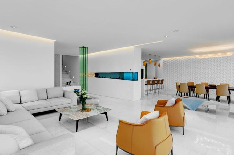 residencia moderna amplia salon