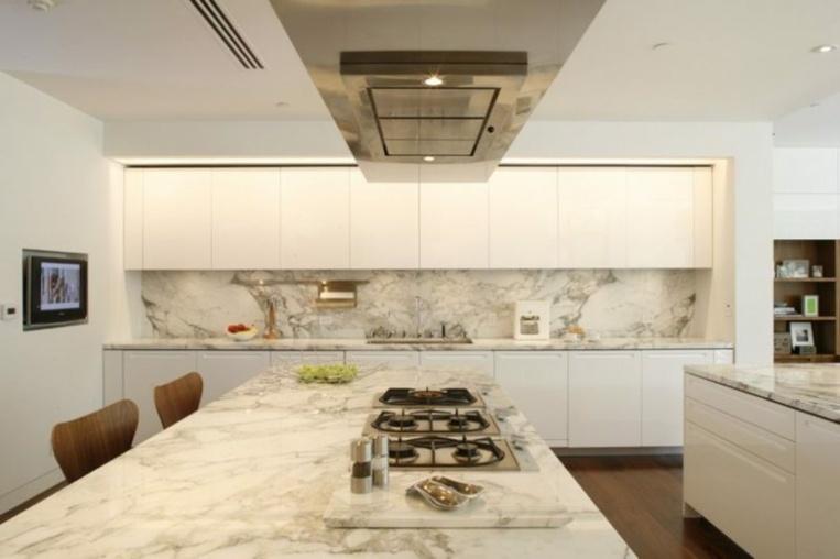 Panel de m rmol contra salpicaduras para la cocina ideas for Manchas en el marmol