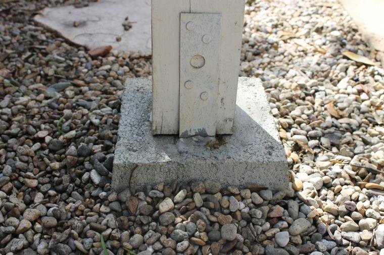 Construir postes para una pérgola