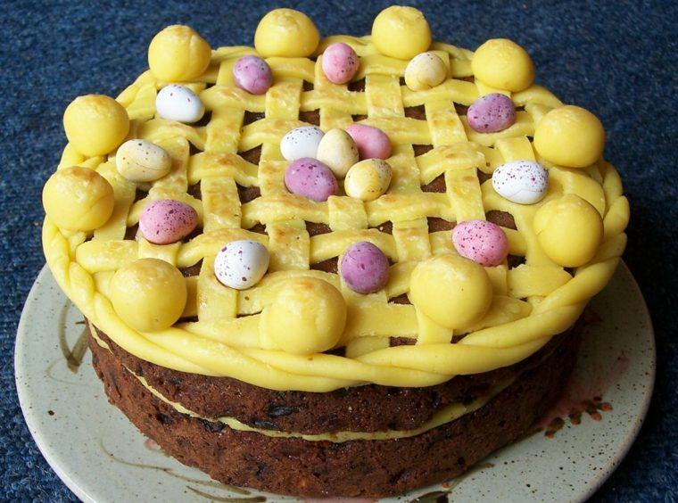 tarta Simnel para Pascua
