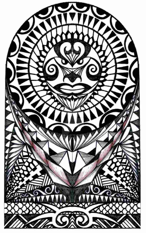 tatuaje maorí sol