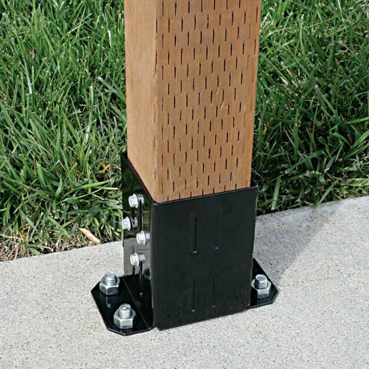 cómo montar soportes para pérgolas