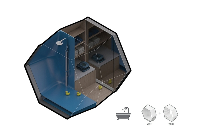 tridimensional baño