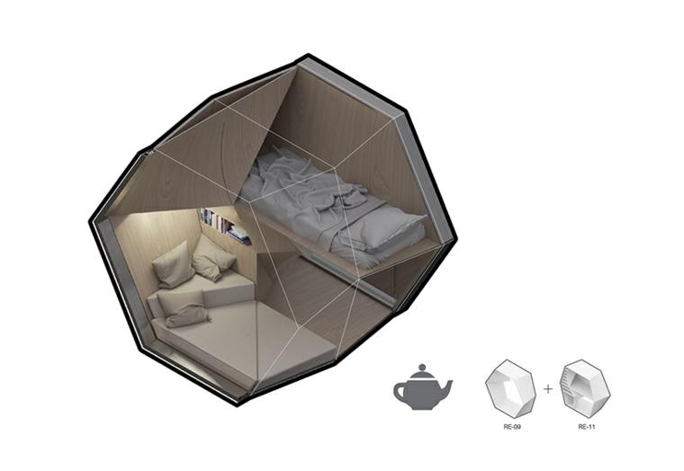 tridimensional cama