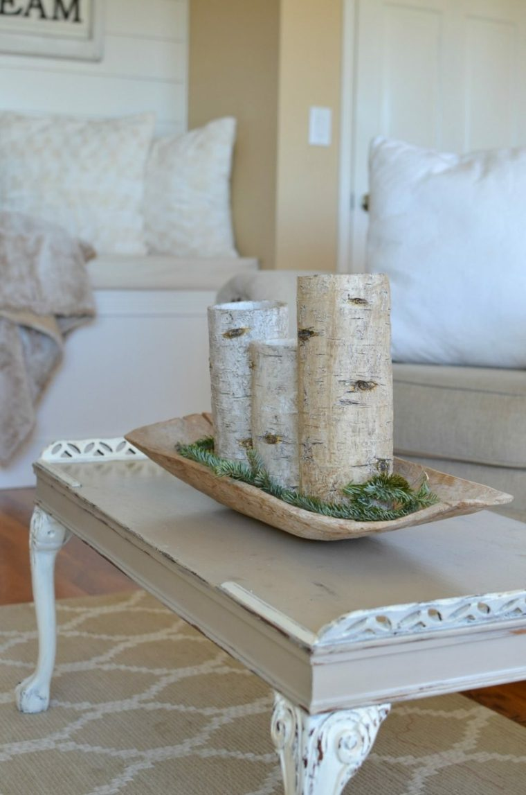 decoración de mesa de salón sencilla
