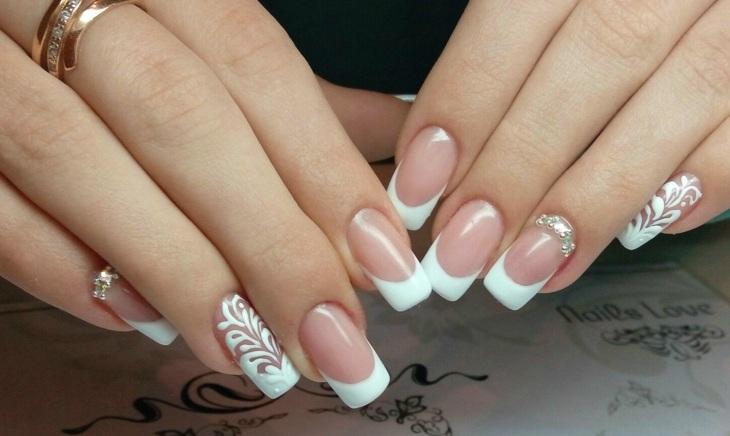 uñas de gel blanco especial