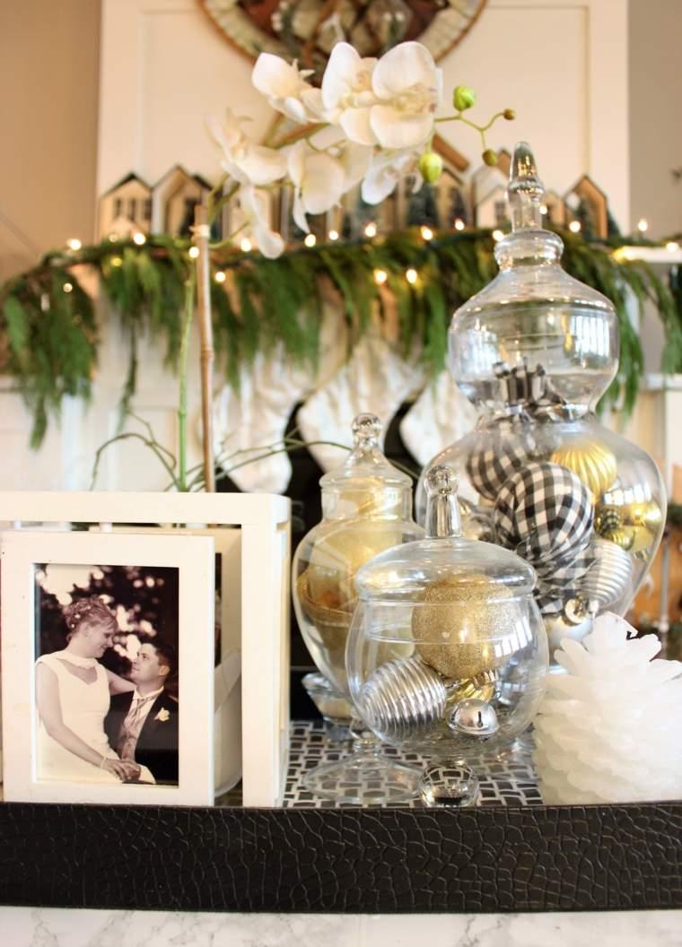 decoración de mesa de salón para Navidad