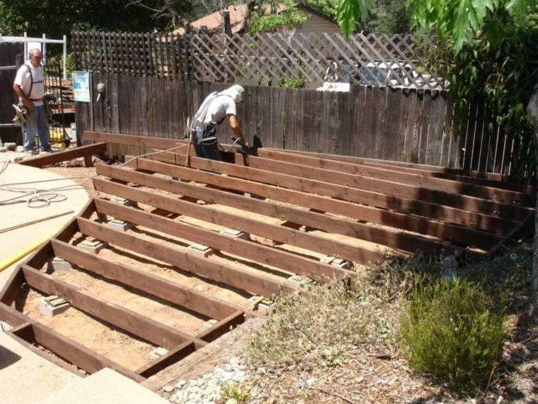 instalar vigas de cubierta de madera