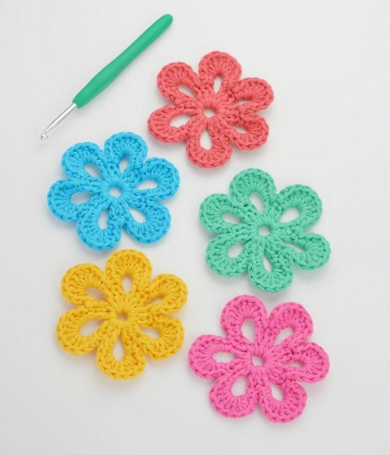 cómo hacer Flores de crochet