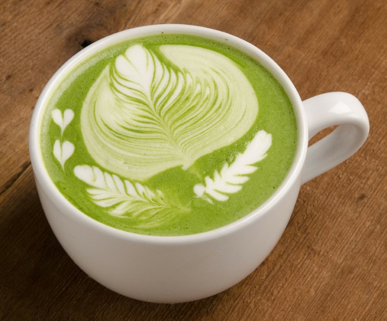 alimentos saludables te verde