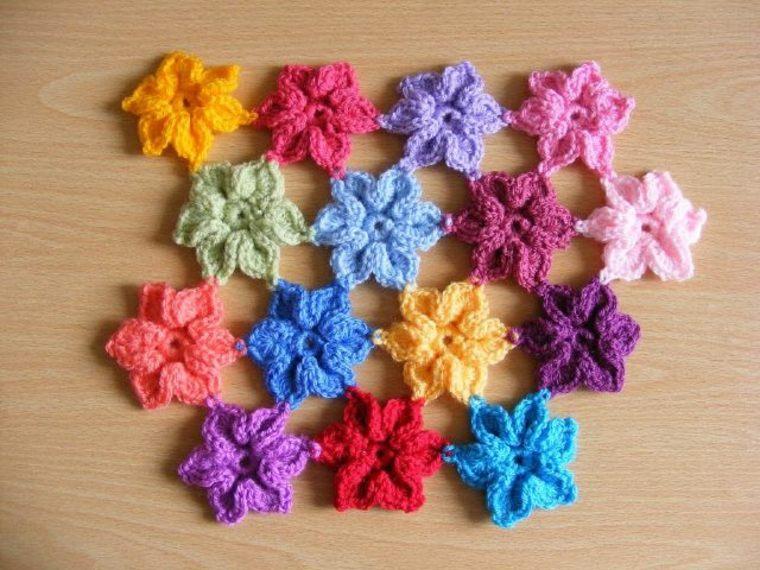 originales diseños de Flores de ganchillo