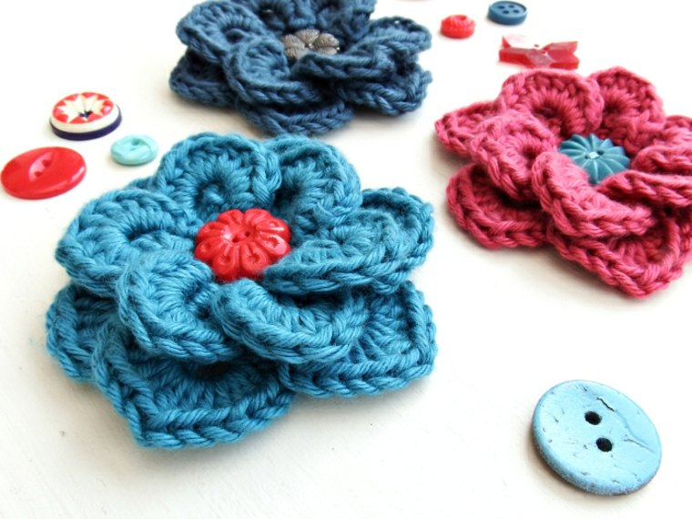 Flores de crochet bonitas