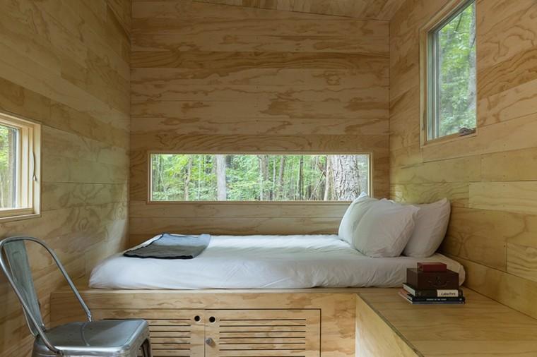 dormitorio de la cabaña