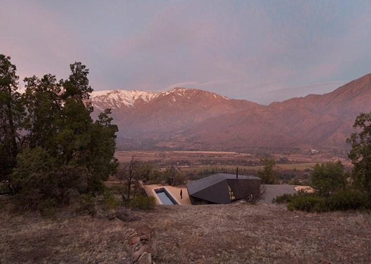 cabañas rurales techo plegable