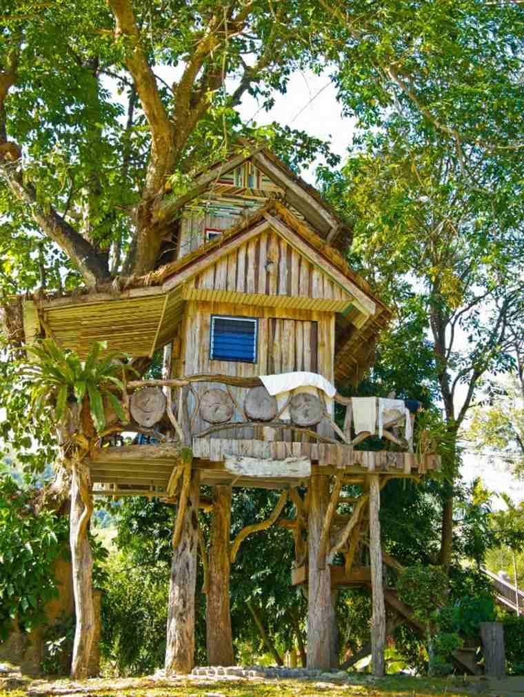 estupendas casas en los arboles para niños