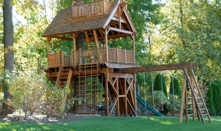 construir casitas en el árbol