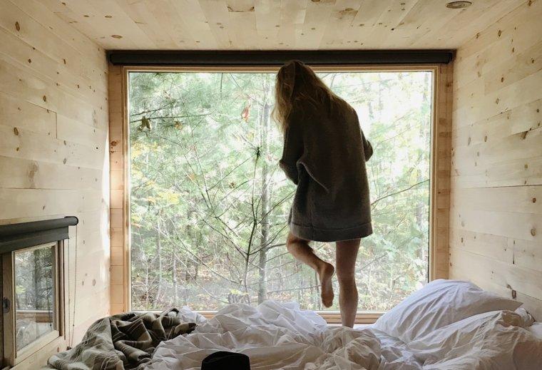 estupenda cabaña de madera Getaway