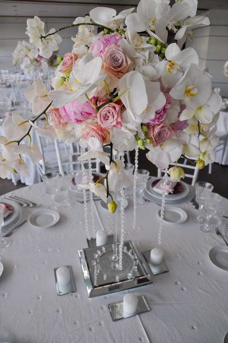 centros de mesa para boda-flores-bellas
