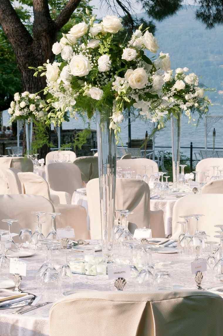 centros de mesa para boda-flores-blancas