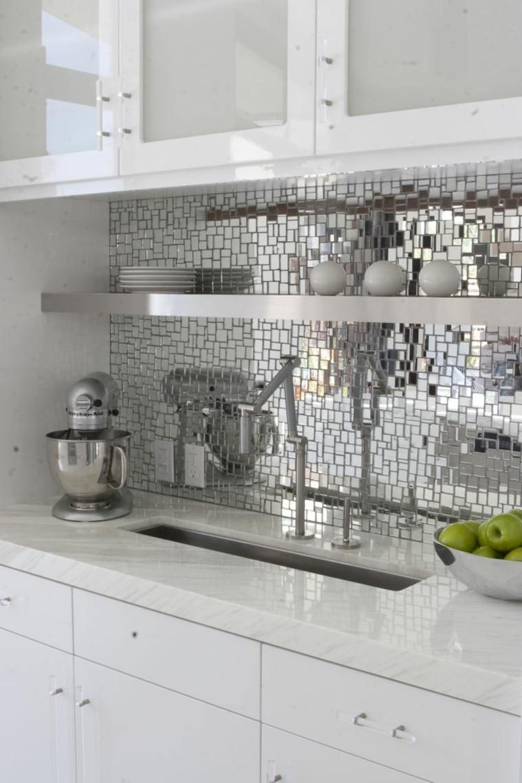 cocinas blancas diseño brillante
