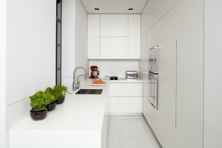 cocinas blancas diseño colores