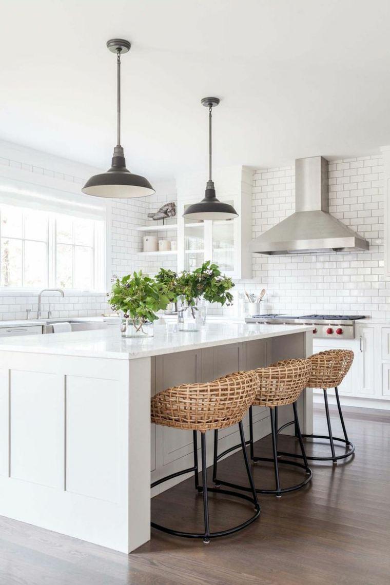 cocinas blancas diseño tradicional