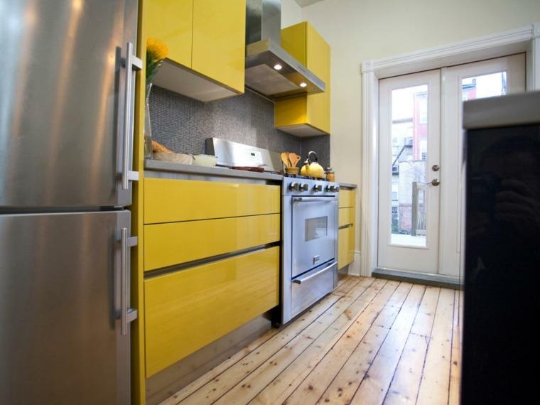 cocinas retro amarillo