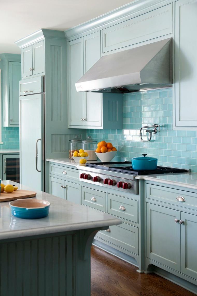 cocinas retro azul-claro