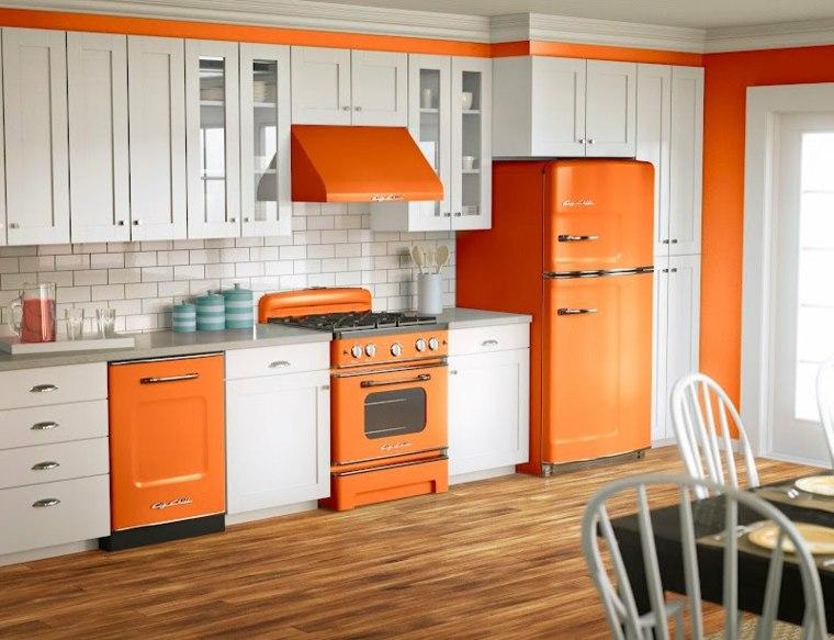 cocinas retro naranja
